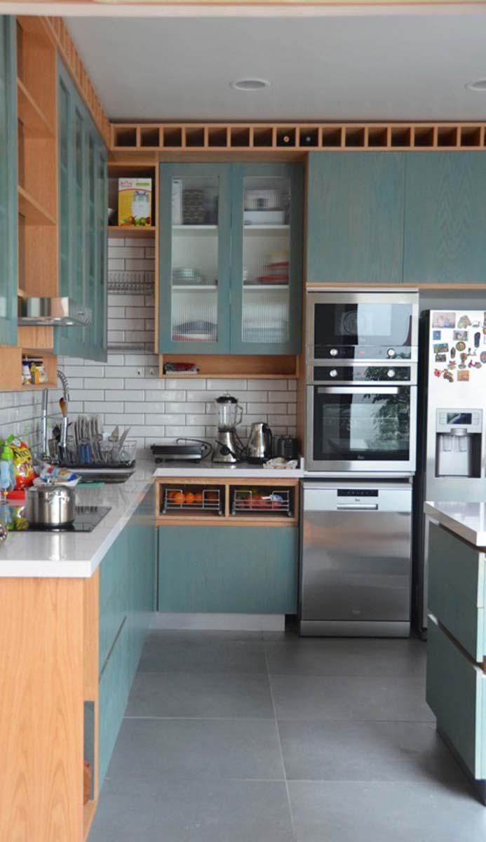 Cocina encina velada turquesa livingston eltonlivingston elton Cocina turquesa